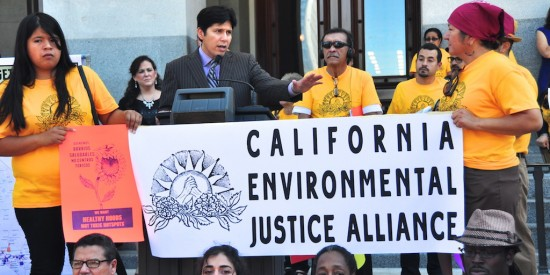Senator Kevin de Leon at the rally