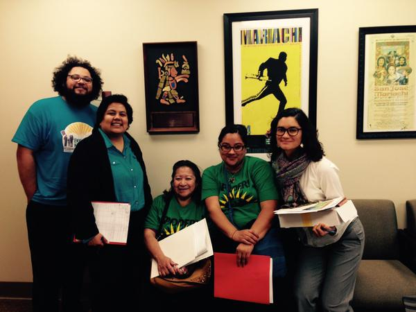 EHC & PODER after meeting with the offices of Assembly Member Nora Campos